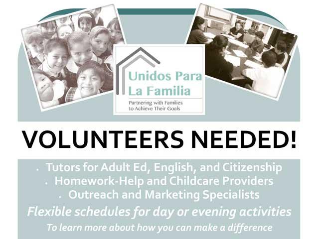 Unidos Para La Familia  Volunteers Needed!